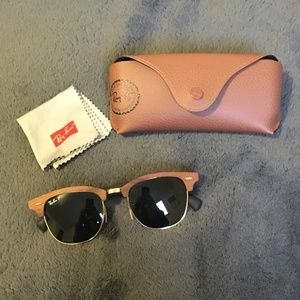 Ray-Ban Clubmaster Wood - Green Classic G-15 lense